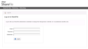 StorageZone Controller login